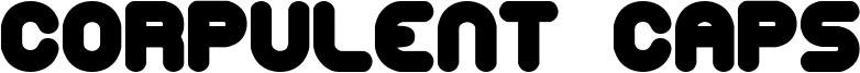 Corpulent Caps Font