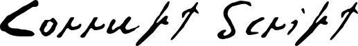 Corrupt Script Font