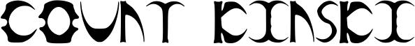 Count Kinski Font