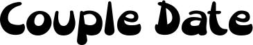 Couple Date Font