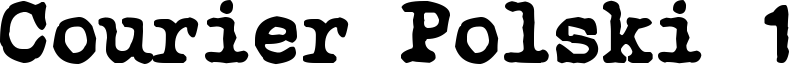 Courier Polski 1941 Font