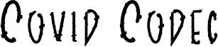 Covid Codec Font