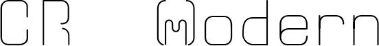 CR21 Modern Font