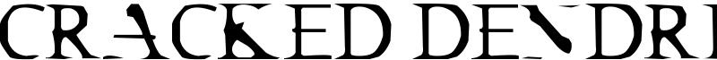 Cracked Dendrite Font