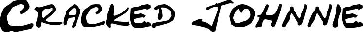 Cracked Johnnie Font