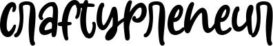 Craftypreneur Font