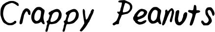 Crappy Peanuts Font
