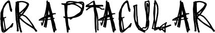 Craptacular Font