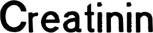 Creatinin Font