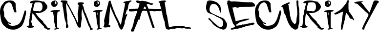 Criminal Security Font