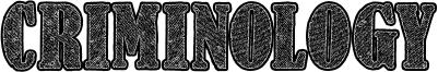 Criminology Font