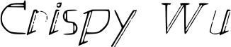 Crispy Wu Font