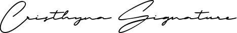 Cristhyna Signature Font