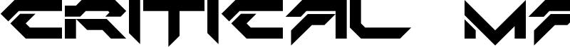Critical Mass LDR Font
