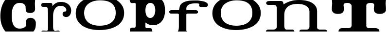 Cropfont Serif Font