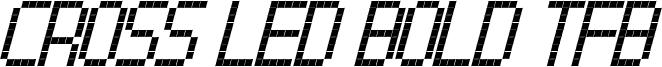 Cross led tfb bold cursive.ttf