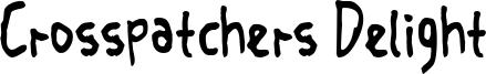 Crosspatchers Delight Font