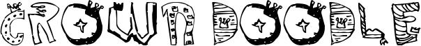 Crown Doodle Font