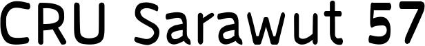 CRU Sarawut 57 Font