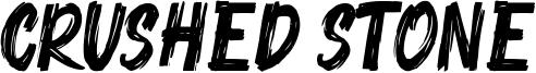 Crushed Stone Font