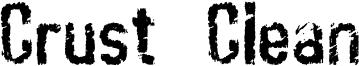 Crust  Clean Font