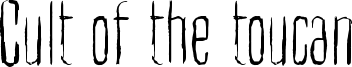 Cult of the toucan Font
