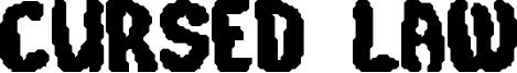 Cursed Law Font