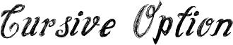 Cursive Option Font