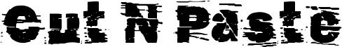 Cut N Paste Font