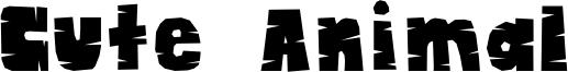 Cute Animal Font