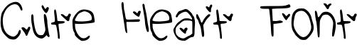 Cute Heart Font Font