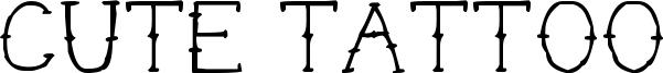 Cute Tattoo Font