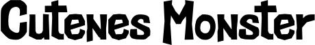 Cutenes Monster Font