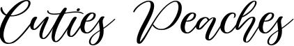 Cuties Peaches Font