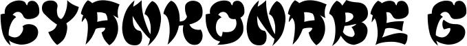 Cyankonabe G Font