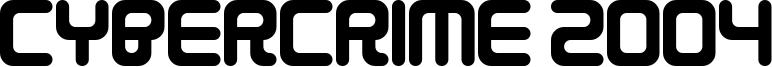 Cybercrime 2004 Font