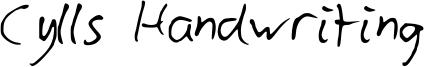 Cylls Handwriting Font