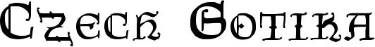 Czech Gotika Font