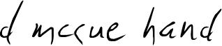 D McCue Hand Font