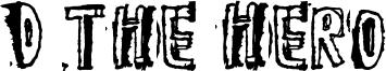 D the Hero Font