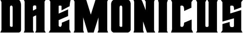 Daemonicus Font