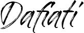Dafiati Font