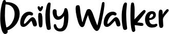 Daily Walker Font