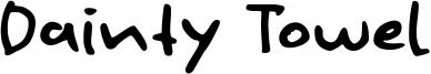 Dainty Towel Font