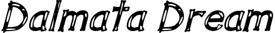 Dalmata Dream Bold Italic.ttf