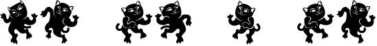 Dancing Cat Font
