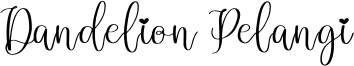 Dandelion Pelangi Font