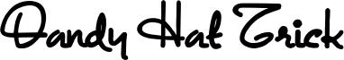 Dandy Hat Trick Font
