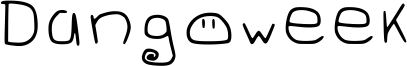 Dangoweek Font