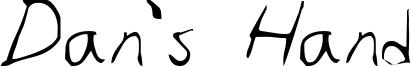 Dan's Hand Font